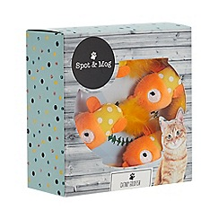 Spot & Mog - 4 Pack Catnip Filled Goldfish Cat Toys