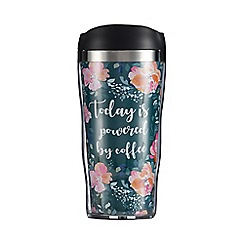 Wilson and Bloom - Green 'Today Is Powered By Coffee' Travel Mug
