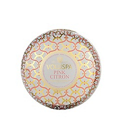 VOLUSPA - Maison Blanc Pink Citron 2 Wick Scented Tin Candle