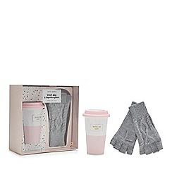 Luxe Edit - Travel mug and fingerless gloves set