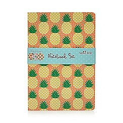Sass & Belle - Set of 3 Multicoloured Pineapple Print A5 Notebooks