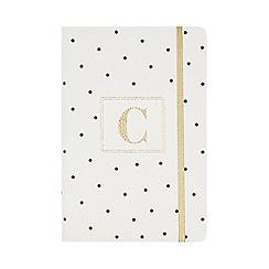 Monogram - White 'C' Spot Print A5 Notebook