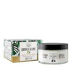 Scottish Fine Soaps - Coconut and lime body butter jar 200ml