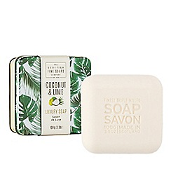 Scottish Fine Soaps - Coconut and lime luxury soap 100g