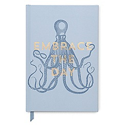 Designworks - Blue 'Embrace The Day' vintage sass notebook