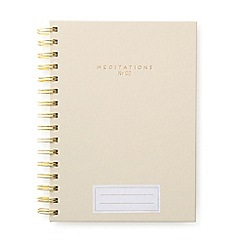 Designworks - Taupe 'Meditations' twin wire notebook