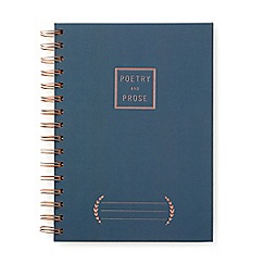 Designworks - Blue 'Poetry and Prose' twin wire notebook