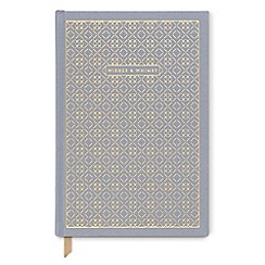 Designworks - Grey 'Wishes and Whimsy' cloth cover notebook