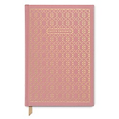 Designworks - Pink 'Pretty Thoughts' cloth cover notebook