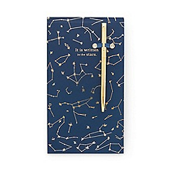 Designworks - Navy 'It is Written in The Stars' chunky notepad with pen