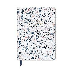Designworks - Indigo blue terrazzo notebook