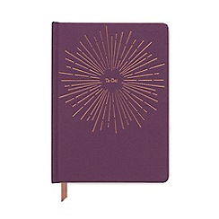 Designworks - Aubergine 'Ta-Da' cloth cover notebook