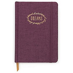 Designworks - Aubergine 'Dreams' cloth cover notebook