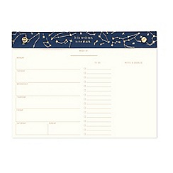 Designworks - 'It Is Written In the Stars' weekly planner desk pad