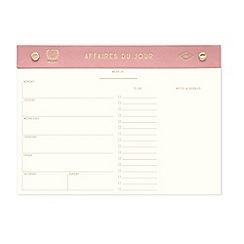 Designworks - 'Affaires du Jour' weekly planner desk pad