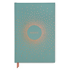 Designworks - Teal 'Radiate' soft touch notebook