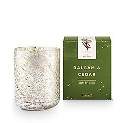 Illume - Glass balsam and cedar luxe mercury tumbler scented jar candle