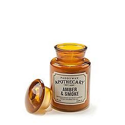 Paddywax - Large 'Apothecary' amber and smoke scented candle