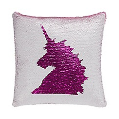 Unicorn World - Pink Sequin Unicorn Cushion