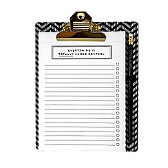 Alice Scott - Black and White Clipboard with Notepad