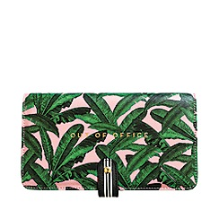 Alice Scott - Pink and Green Palm Print Travel Wallet