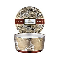 VOLUSPA - Limited Edition Japonica Holiday Gilt Pomander and Hinoki 3 Wick Scented Candle