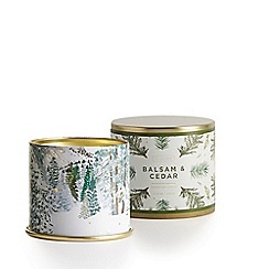 Illume - Balsam and Cedar Large Scented Tin Candle 335g