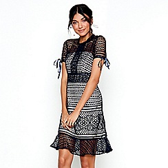 Chi Chi London - Navy lace 'Chloe Marie' dress