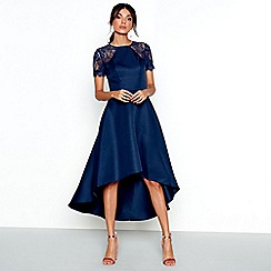 Chi Chi London - Navy lace 'Jasper' high low dress