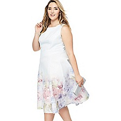 Chi Chi London - Floral print 'Beky' midi plus size prom dress