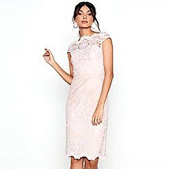 Chi Chi London - Pink lace 'Aseelia' pencil dress