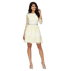 Laced In Love - Light yellow lace dress