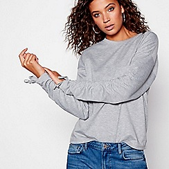 Red Herring - Grey ruched sleeves sweat top