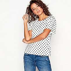 Red Herring - White spot print puff sleeves t-shirt