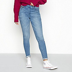 Red Herring - Blue 'Georgia' mid-wash jeggings