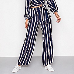 Red Herring - Multi-coloured wide leg formal trousers