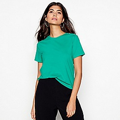 Red Herring - Green stud shoulder t-shirt