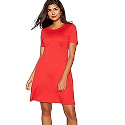 Red Herring - Red jersey tea dress