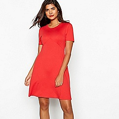 Red Herring - Red jersey tea dress