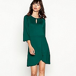 Red Herring - Green tie front dress