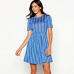 Red Herring - Blue stripe wrap mini dress