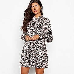 Red Herring - Leopard print swing shirt dress