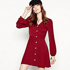 Red Herring - Red button through mini dress