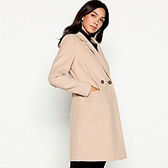 Red Herring - Camel double breasted 'Melton' city coat