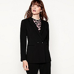 Red Herring - Black double breasted longline blazer