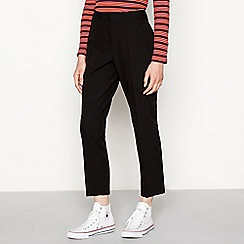 Red Herring - Black high waisted ankle grazer trousers