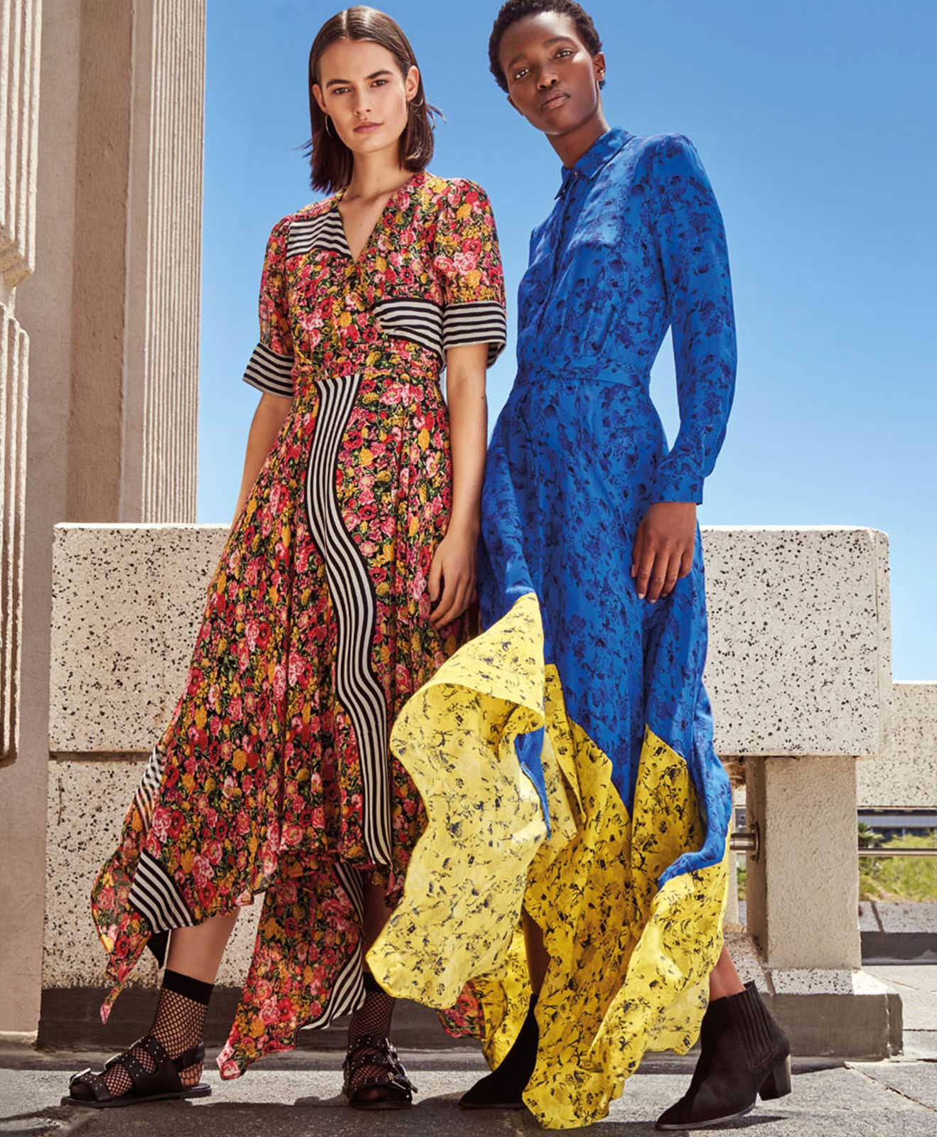 8a6d59c3be7a DRAMATIC LENGTHS Floor-skimming lengths + bold clashing prints = the  summer's most striking dresses.
