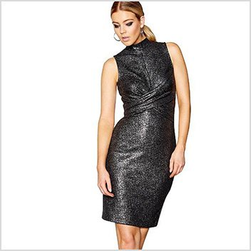 aed8c5c393 STAR BY JULIEN MACDONALD Black glittery bodycon dress