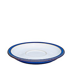 Denby - Glazed 'Imperial Blue' tea saucer