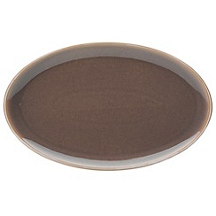 Denby - Mushroom and cream 'Truffle Layers' serving platter